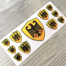 Germany German coat of arms domed chrome emblem decal stickers BMW