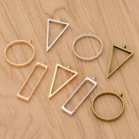 10pcs Hollow Frame Open Back Bezel Pendant Necklace Bracelet Jewelry Making Hot