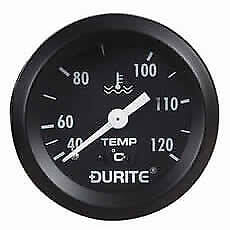 DURITE 0-533-23 Mechanical Water Temperature Gauge with 12' Capillary - 52mm