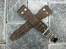 21mm Leather Strap Deployment Buckle Brown Watch Band SET IWC Portugue PILOT 21