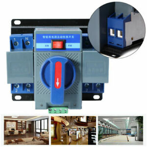 220V 63A 2P 50HZ Dual Power Automatic Transfer Switch For Generator Changeover