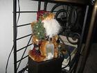Santa in velvet and faux fur