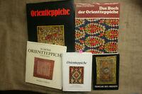 5 Sammlerbücher Knüpfteppiche Orientteppiche Antiquitäten Muster Herstellung