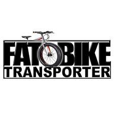 2D Fat Bike Transporter Bumper Sticker Decal Graphic