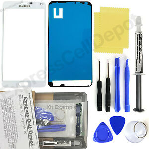 Samsung Galaxy Note 4 -White- Front Glass Lens Screen Replacement Kit