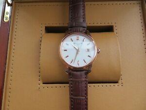 Authentic Men's Patek Philippe Geneve Diamonds Rose Gold Automatic Watch