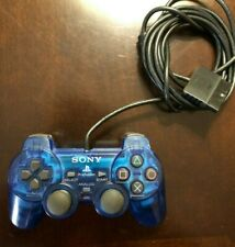 Sony Playstation 2 OEM Analog Controller Blue SCPH-10010  PS2 Dualshock 2