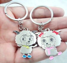 1Pair lovers keychain lovely sheep key stainless steel alloy