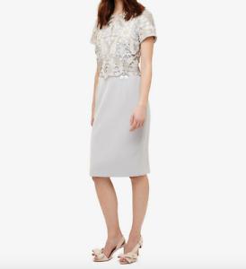 Phase Eight Suki Smoke Grey Lace Dress- Size UK8 , BNWT