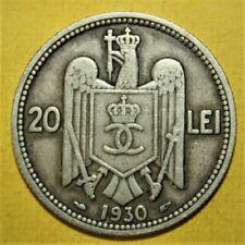 Romania 20 Lei 1930 Very Fine / Very Fine + Coin - King Carol II