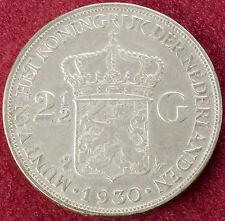 Netherlands 2 and a Half Gulden 1930 (B2610)