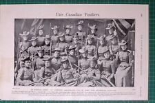 1900 BOER WAR CANADIAN FUSILIERS WOMEN A COMPANY 62ND ST JOHN NEW BRUNSWICK