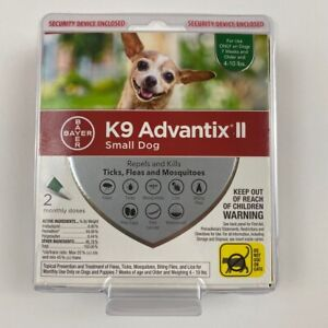 K9 Advantix II Small Dogs 4-10 lbs Repels and Kills Fleas, Ticks & Mosquitos 2pk