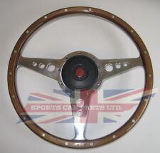 "New 14"" Wood Steering Wheel & Adaptor for  MGA 1955-1962 Moto-Lita Moto Lita"