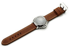 24mm Echtes Asso Leder Uhrenarmband Stahl Gürtelschnalle Für Panerai 44mm Watch