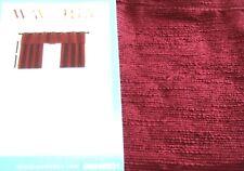 "Waverly Valance CIRRUS Garnet Grommet 42 x 16""L Red Wine NIP"