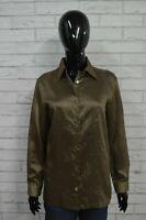 Camicia Lucida Donna CALVIN KLEIN Taglia L Maglia Blusa Shirt Woman Manica Lunga