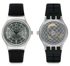 Swatch Sistem Ruby Automatic Watch yis419 Analogue Silicon Black