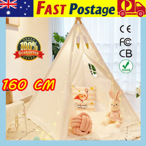 160cm Large Teepee Kids Play Tent Cotton Wigwam Play House Indoor Outdoor  XMAS
