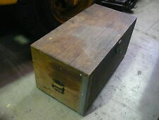 Vintage Wooden Tool Box Carpenters -- A really well made