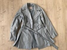 Laundry belted trench coat size M pale blue beautiful details zirconias