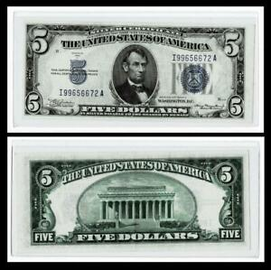 1934-A $5 SILVER CERTIFICATE NOTE~~ALMOST UNCIRCULATED