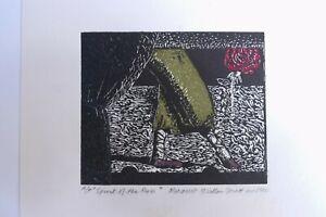 Margaret McLellan Spratt - 'Spirit of the Rose' dated 1990 coloured plate print