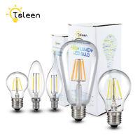 E27 E14 4/8/12/16W Edison 220V/110V Filament COB LED Bulbs Candle Lights Lamps