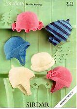 Modello originale Snuggly all'uncinetto, 3173 6 Cappello gli stili in DK Taglie 0-3m a 5-6yr