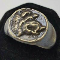 Ancient Bronze Tracien  Ring-Vintage-Antique ROMAN-BRONZE-RARE