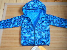NEU H&M Frühjahr Jacke Outdoor Funktionsjacke Gr.128 Herbst NEU blau  Eulen
