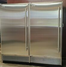 SUB-ZERO'S - MATCHED PAIR STAINLESS STEEL REFRIGERATOR & FREEZER