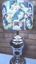 NEW WONDER WOMAN COLLECTABLE COMIC BOOK FABRIC LAMPSHADE TABLE LAMP RETRO SHADE