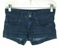 "Mossimo Women's Blue Jean Shorts Size 1 Shortie Waist 28"" Dark Stretch  *E"