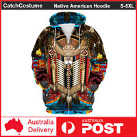 Native American Indian Hoodie Jacket 3D Printed Pullover Sweatshirt Coat Unisex