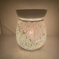 Pearl Crackle Electric Wax Warmer/Burner & 10 Handpoured Scented Melts (3029)