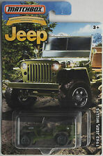 "MATCHBOX -'43/1943 JEEP WILLYS verde oliva ""Anniversary Edition"" Nuovo/Scatola Originale"