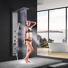 Brushed Nickel Shower Panel Tower Rain Waterfall Massage Body System Jet Spray1