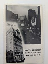 POSTCARD Hotel Somerset New York New York O-1