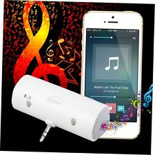Mini White Portable 3.5mm Music Player Stereo Speaker For Cell Phone Mobile fx