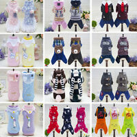 Winter Puppy Pet Dog Cat Clothes Hoodie Warm Sweater Coat Costume Apparel NEW