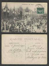 1910 CARNAVAL DE NICE FRANCE UNE TOURNEE SUR LE ZINC POSTCARD