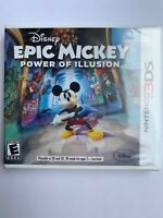 Nintendo 3DS Epic Mickey: Power of Illusion Video Game BRAND NEW SEALED Y-fold