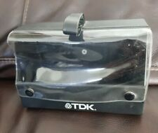 Vintage TDK Audio Cassette Tape carry Case Holds 10 Cassettes Music Storage Box