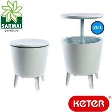 Keter Cool Bar 3 in 1 Mini frigo Portaghiaccio tavolino da cocktail giardino