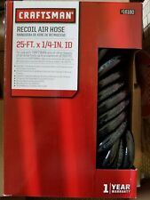 Craftsman Recoil Air Hose 25 ft x 1/4 in ID NEW & SHIPS FREE
