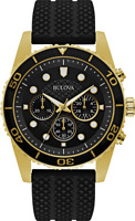 Bulova Men's Miyota Caliber Quartz Chronograph Black Bracelet 44mm Watch 98A191