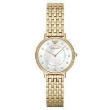 ARMANI WOMENS WATCH AR11007 MOTHER OF PEARL DIAL METAL STRAP RRP £259.00