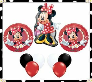 Minnie Mouse Polka Dots Party Balloons - 9 Pieces