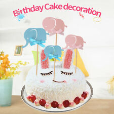 Wrapper Kids Favors Cupcake Elephant Cake Toppers Birthday Party Decoration